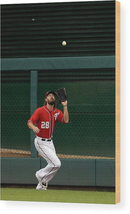 Ninth Inning Wood Print featuring the photograph Jayson Werth and David Wright by Patrick Mcdermott