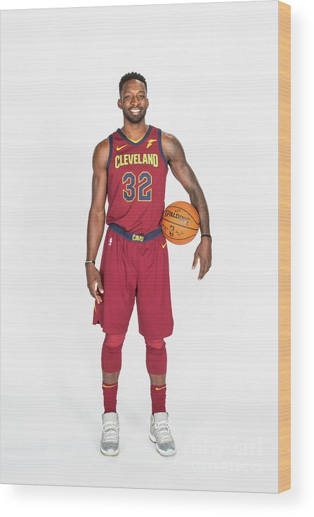 Media Day Wood Print featuring the photograph Jeff Green by Michael J. Lebrecht Ii