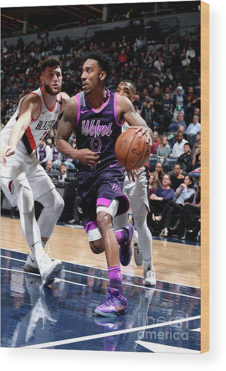 Nba Pro Basketball Wood Print featuring the photograph Jeff Teague by David Sherman