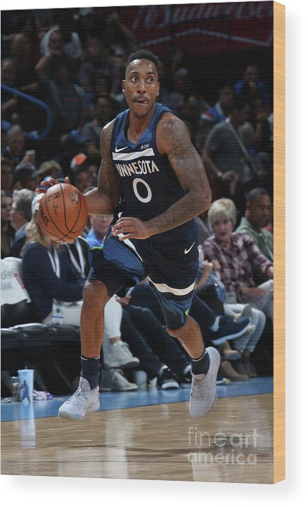 Nba Pro Basketball Wood Print featuring the photograph Jeff Teague by Layne Murdoch