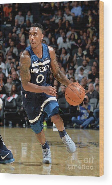 Nba Pro Basketball Wood Print featuring the photograph Jeff Teague by Mark Sobhani