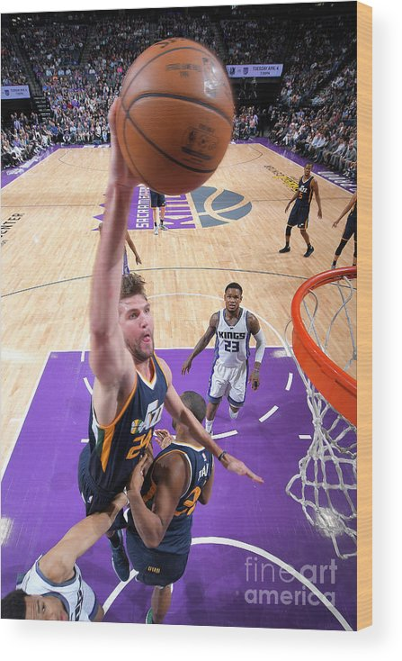 Nba Pro Basketball Wood Print featuring the photograph Jeff Withey by Rocky Widner