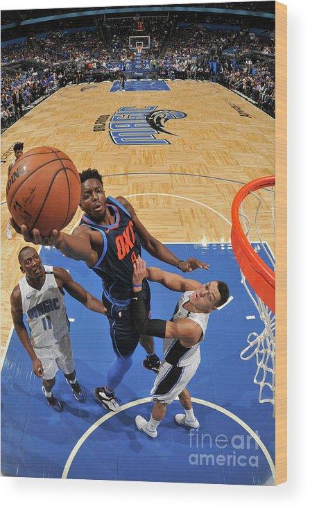 Nba Pro Basketball Wood Print featuring the photograph Jerami Grant by Fernando Medina