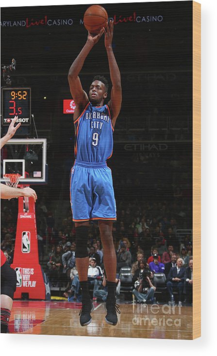 Nba Pro Basketball Wood Print featuring the photograph Jerami Grant by Ned Dishman