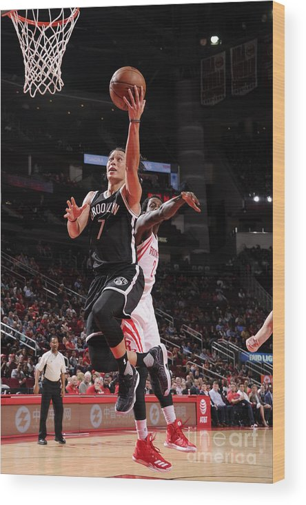 Nba Pro Basketball Wood Print featuring the photograph Jeremy Lin by Bill Baptist
