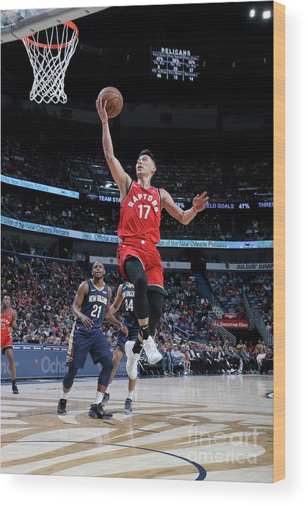 Smoothie King Center Wood Print featuring the photograph Jeremy Lin by Layne Murdoch Jr.