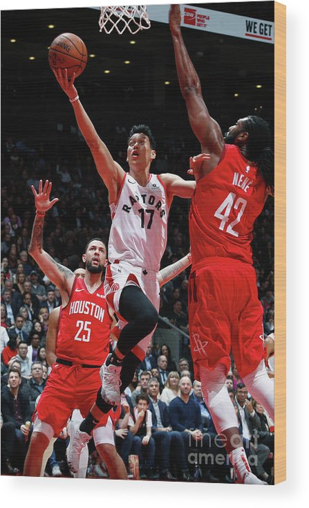 Nba Pro Basketball Wood Print featuring the photograph Jeremy Lin by Mark Blinch