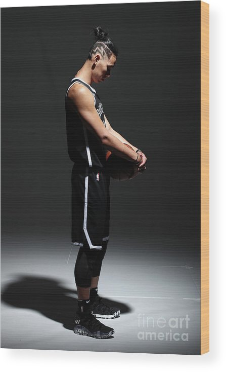 Media Day Wood Print featuring the photograph Jeremy Lin by Nathaniel S. Butler