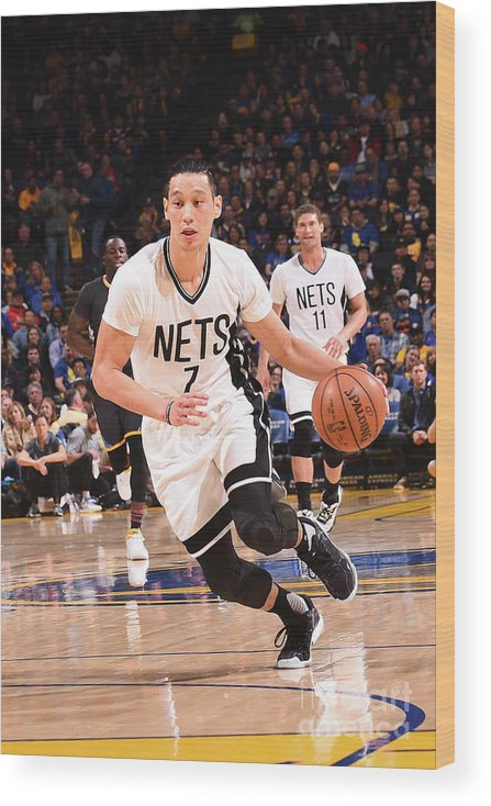 Nba Pro Basketball Wood Print featuring the photograph Jeremy Lin by Noah Graham