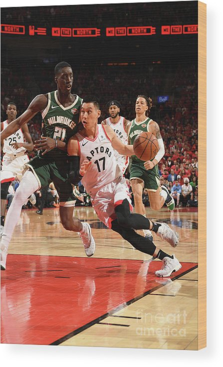 Nba Pro Basketball Wood Print featuring the photograph Jeremy Lin by Ron Turenne