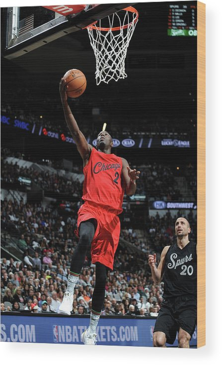 Nba Pro Basketball Wood Print featuring the photograph Jerian Grant by Mark Sobhani