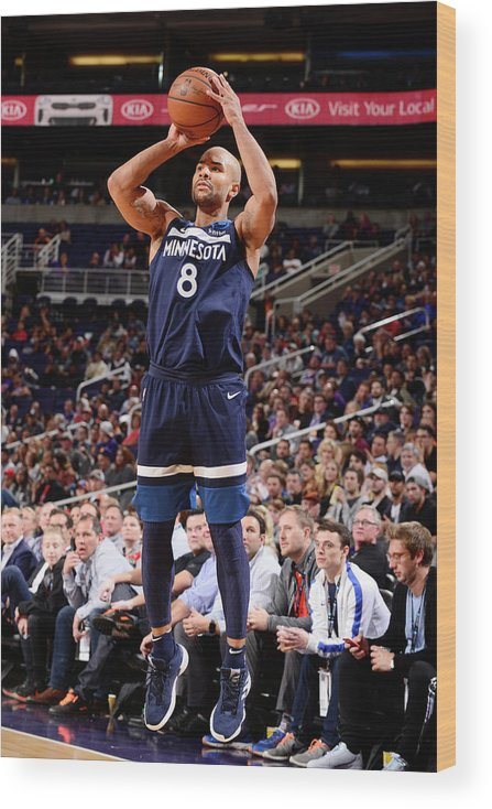 Nba Pro Basketball Wood Print featuring the photograph Jerryd Bayless by Barry Gossage