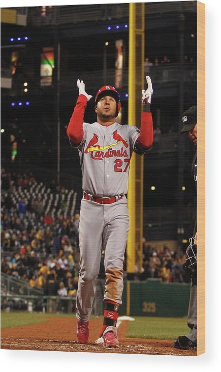 St. Louis Cardinals Wood Print featuring the photograph Jhonny Peralta by Justin K. Aller