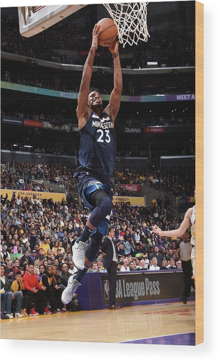Nba Pro Basketball Wood Print featuring the photograph Jimmy Butler by Andrew D. Bernstein
