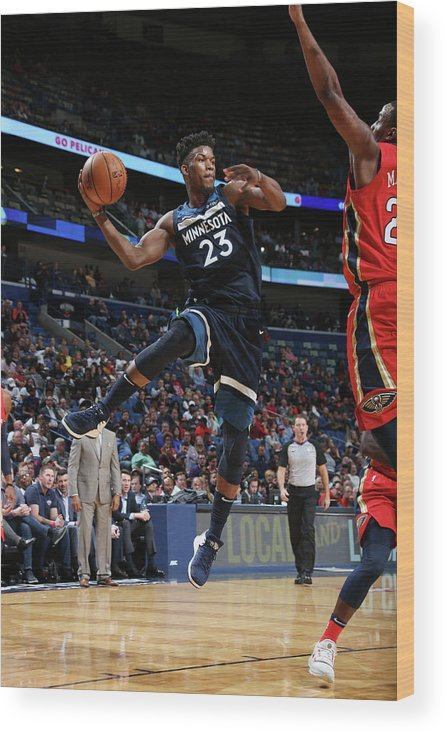 Smoothie King Center Wood Print featuring the photograph Jimmy Butler by Layne Murdoch Jr.