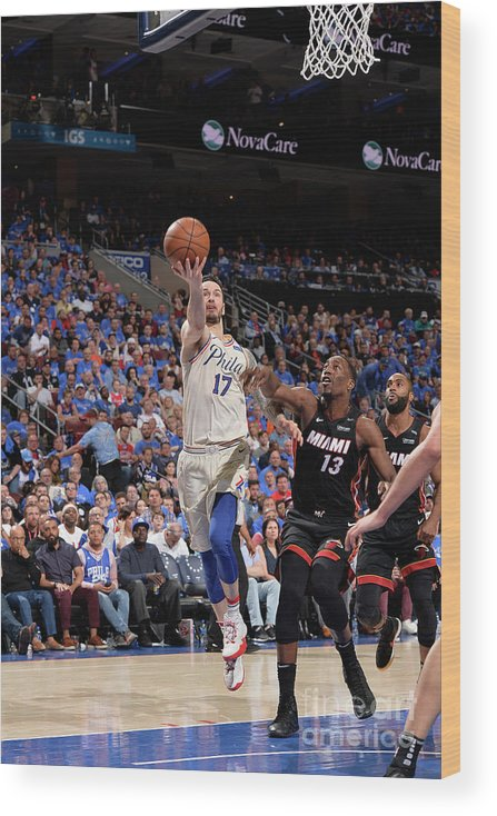 Playoffs Wood Print featuring the photograph J.j. Redick by David Dow
