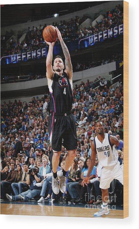 Nba Pro Basketball Wood Print featuring the photograph J.j. Redick by Glenn James