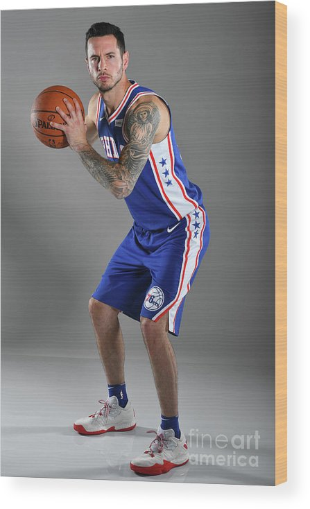 Media Day Wood Print featuring the photograph J.j. Redick by Jesse D. Garrabrant