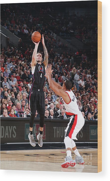 Nba Pro Basketball Wood Print featuring the photograph J.j. Redick by Sam Forencich