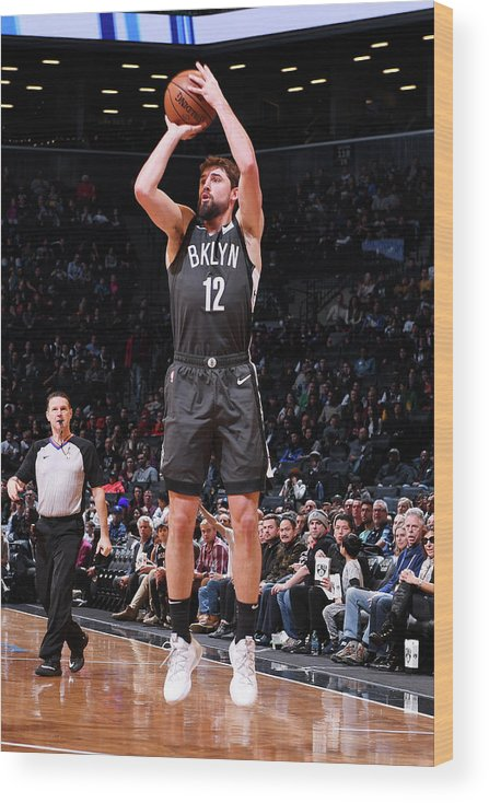 Nba Pro Basketball Wood Print featuring the photograph Joe Harris by Matteo Marchi