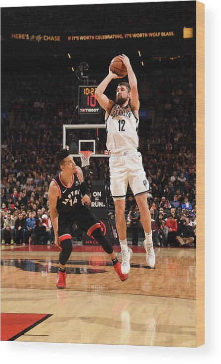 Nba Pro Basketball Wood Print featuring the photograph Joe Harris by Ron Turenne
