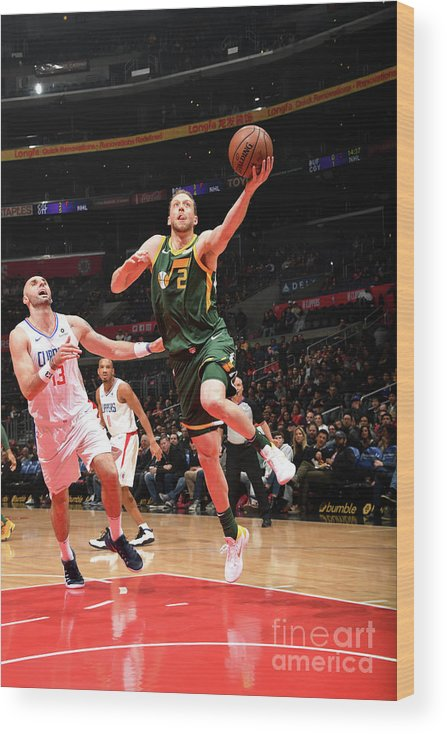 Nba Pro Basketball Wood Print featuring the photograph Joe Ingles by Andrew D. Bernstein