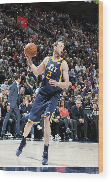 Nba Pro Basketball Wood Print featuring the photograph Joe Ingles by Melissa Majchrzak