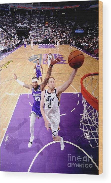 Nba Pro Basketball Wood Print featuring the photograph Joe Ingles by Rocky Widner