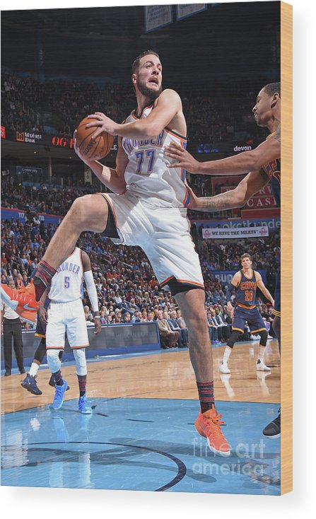 Nba Pro Basketball Wood Print featuring the photograph Joffrey Lauvergne by Andrew D. Bernstein