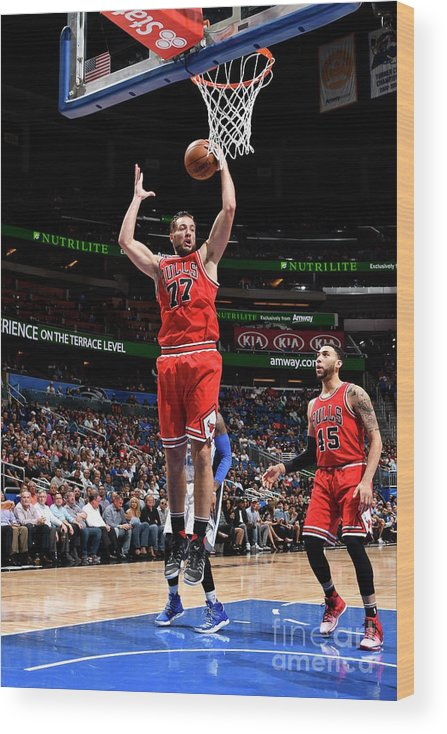 Nba Pro Basketball Wood Print featuring the photograph Joffrey Lauvergne by Fernando Medina
