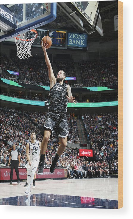 Nba Pro Basketball Wood Print featuring the photograph Joffrey Lauvergne by Melissa Majchrzak