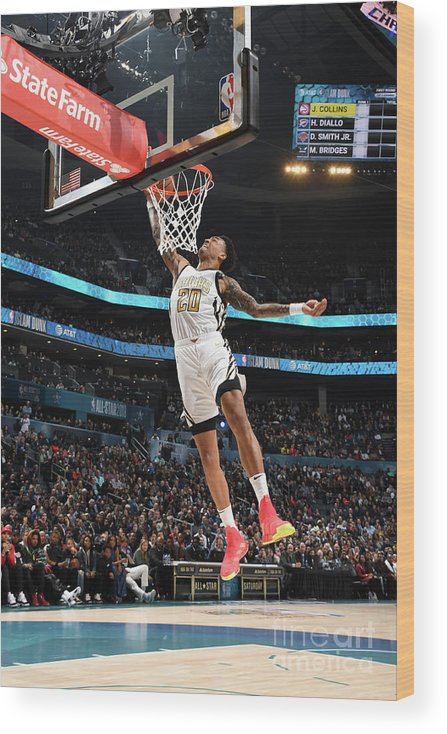 Nba Pro Basketball Wood Print featuring the photograph John Collins by Andrew D. Bernstein