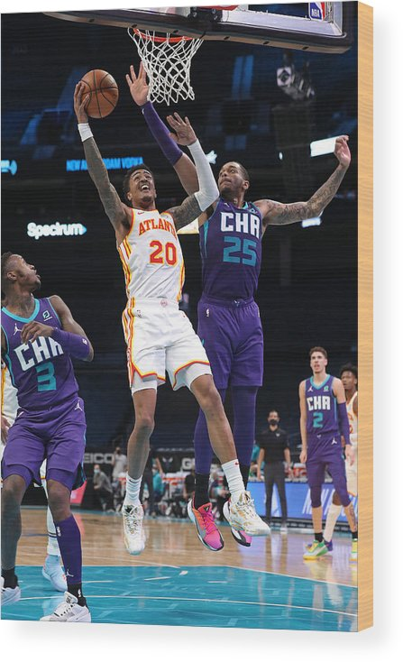 Nba Pro Basketball Wood Print featuring the photograph John Collins by Brock Williams-Smith
