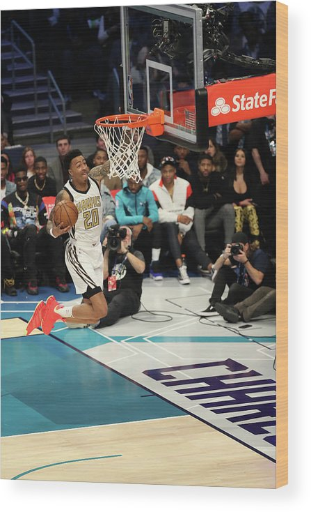 Nba Pro Basketball Wood Print featuring the photograph John Collins by Kent Smith