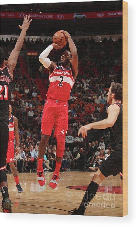 Nba Pro Basketball Wood Print featuring the photograph John Wall by Issac Baldizon