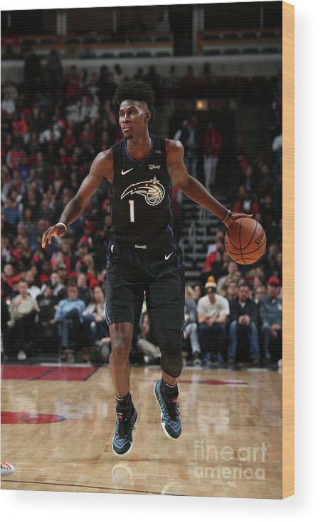 Nba Pro Basketball Wood Print featuring the photograph Jonathan Isaac by Gary Dineen