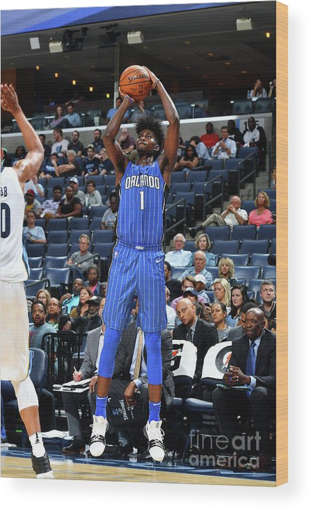Nba Pro Basketball Wood Print featuring the photograph Jonathan Isaac by Jesse D. Garrabrant