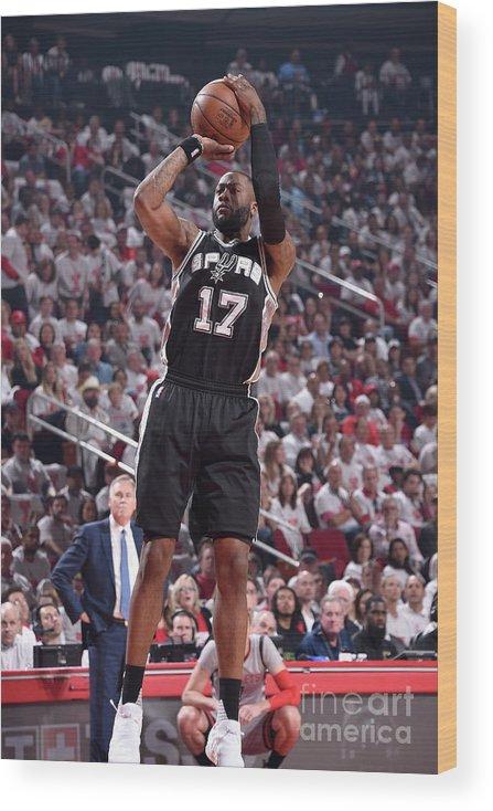 Playoffs Wood Print featuring the photograph Jonathon Simmons by Bill Baptist