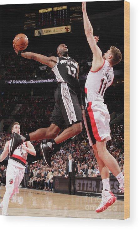 Nba Pro Basketball Wood Print featuring the photograph Jonathon Simmons by Cameron Browne