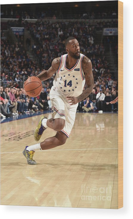 Nba Pro Basketball Wood Print featuring the photograph Jonathon Simmons by David Dow