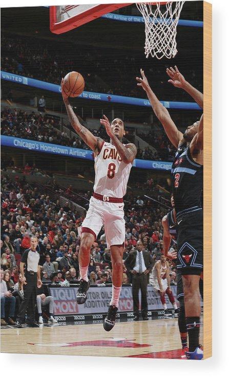 Nba Pro Basketball Wood Print featuring the photograph Jordan Clarkson by Gary Dineen