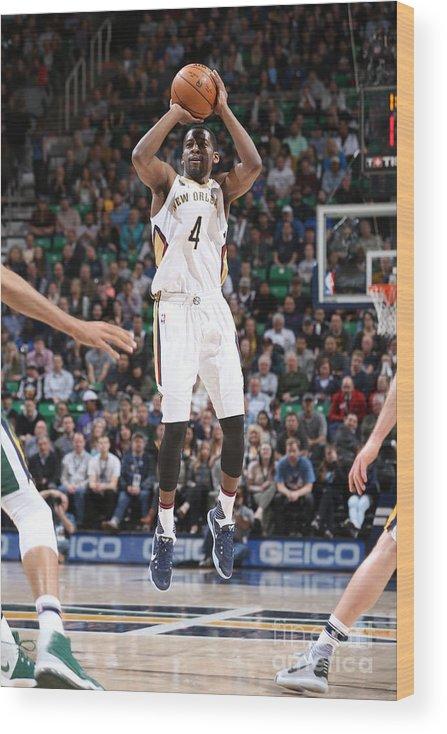 Nba Pro Basketball Wood Print featuring the photograph Jordan Crawford by Melissa Majchrzak