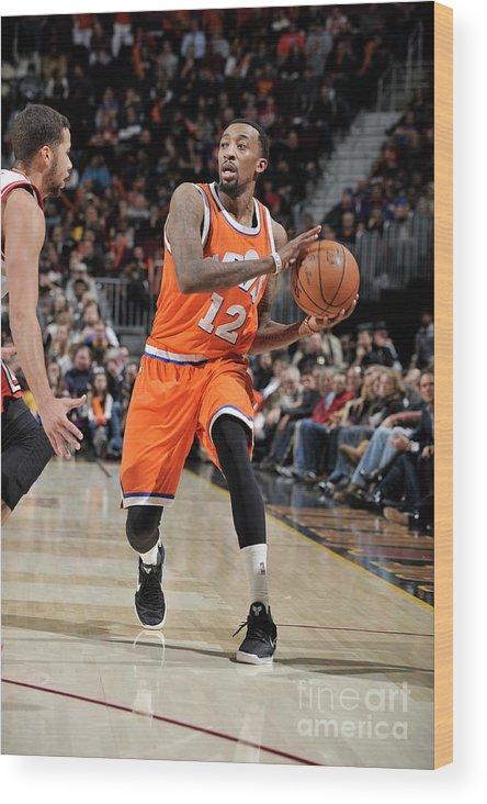 Nba Pro Basketball Wood Print featuring the photograph Jordan Mcrae by David Liam Kyle