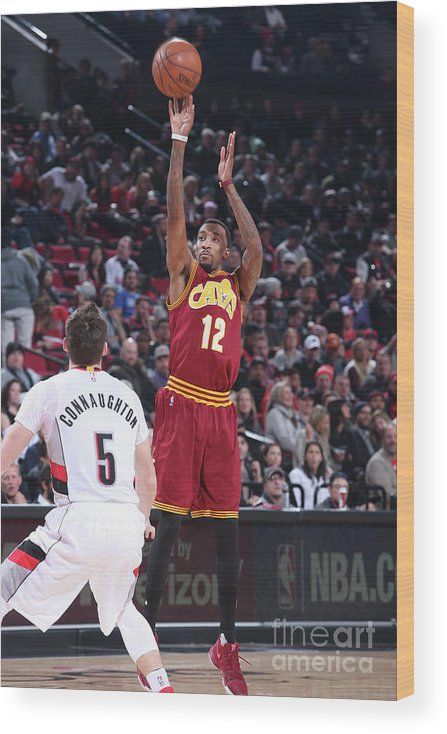 Nba Pro Basketball Wood Print featuring the photograph Jordan Mcrae by Sam Forencich