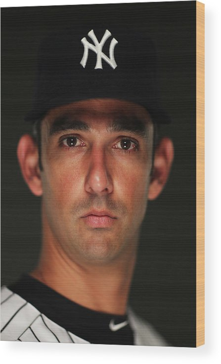 Media Day Wood Print featuring the photograph Jorge Posada by Al Bello
