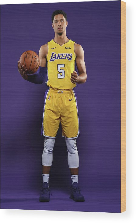 Media Day Wood Print featuring the photograph Josh Hart by Aaron Poole