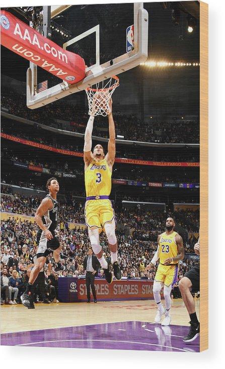 Nba Pro Basketball Wood Print featuring the photograph Josh Hart by Andrew D. Bernstein