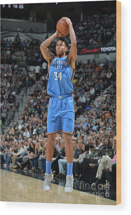 Nba Pro Basketball Wood Print featuring the photograph Josh Huestis by Mark Sobhani