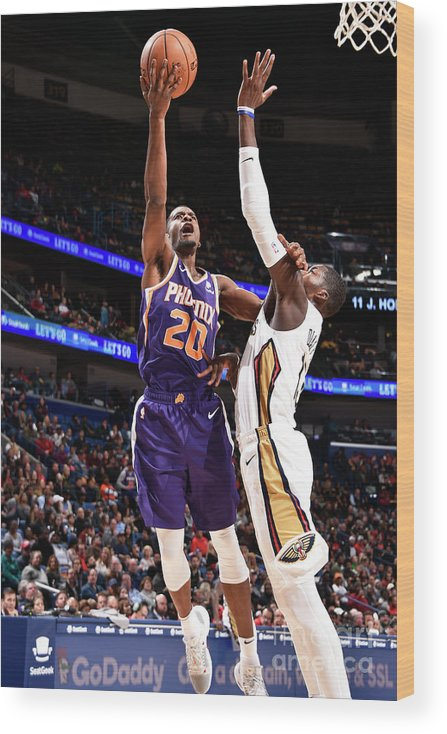 Smoothie King Center Wood Print featuring the photograph Josh Jackson by Bill Baptist
