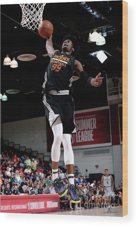 Nba Pro Basketball Wood Print featuring the photograph Josh Jackson by David Dow